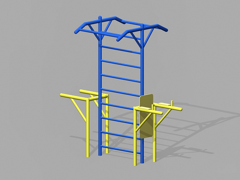 Street Workout Frame 3d rendering