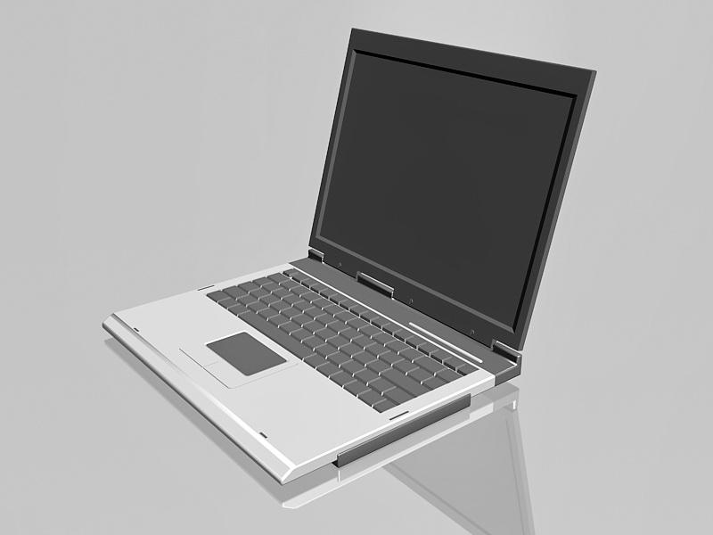 Windows Computers Laptop 3d rendering