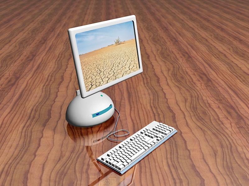 All-in-one Desktop Computer 3d rendering