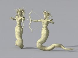 Medusa Greek Statue 3d preview
