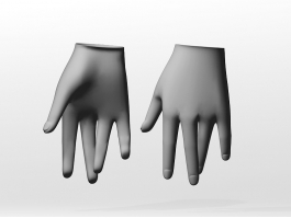 Female Hand 3d preview
