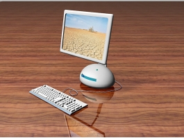 All-in-one Desktop Computer 3d preview