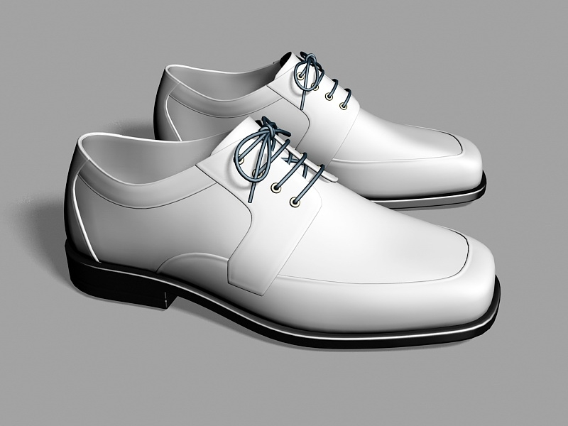 Men's Leather Dress Shoes 3d rendering