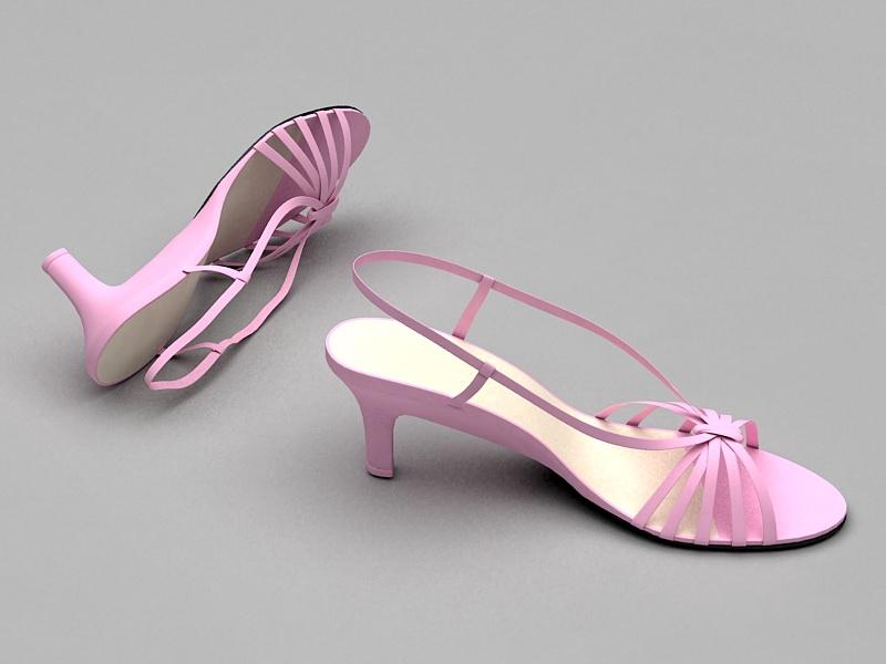 Cute Summer Sandals 3d rendering
