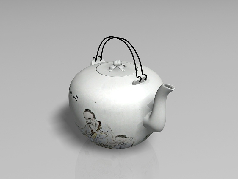 Traditional Chinese Teapot 3d rendering