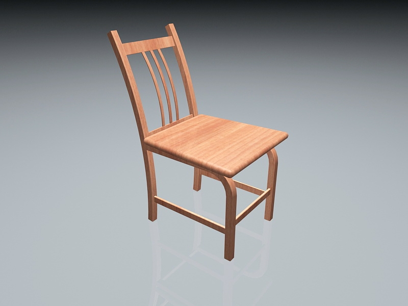 Wooden Dining Room Chair 3d rendering