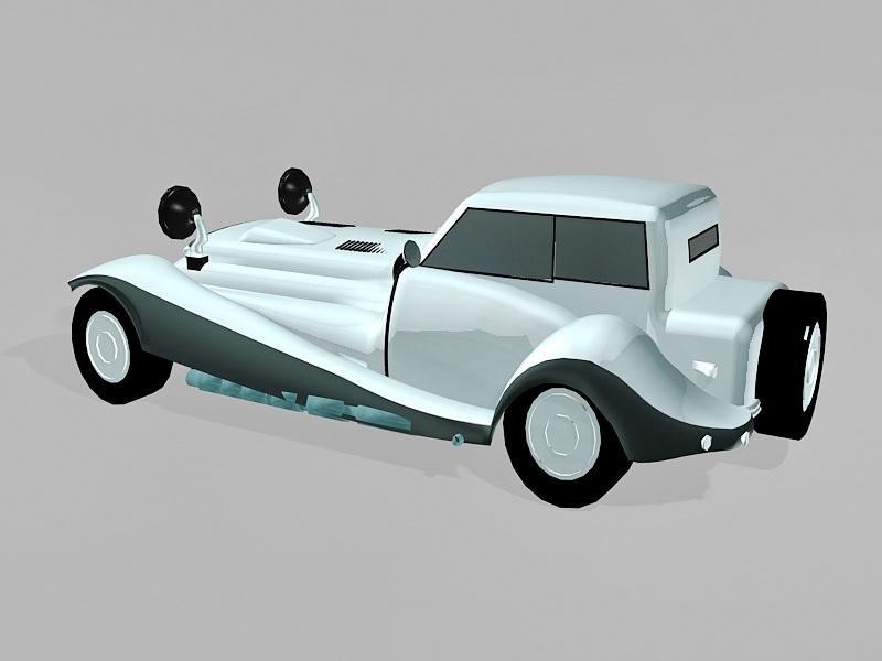 Beautiful Vintage Car 3d rendering
