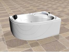 Corner Bathtub Design 3d preview