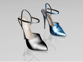 Ankle Strap High Heel Shoes 3d preview