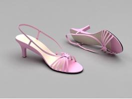 Cute Summer Sandals 3d preview