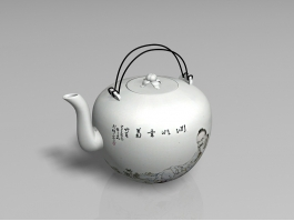 Traditional Chinese Teapot 3d preview