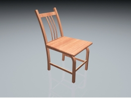 Wooden Dining Room Chair 3d preview