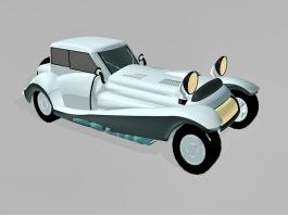 Beautiful Vintage Car 3d model preview