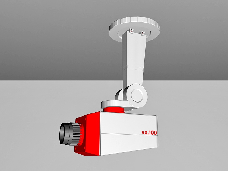 Old CCTV Camera 3d rendering