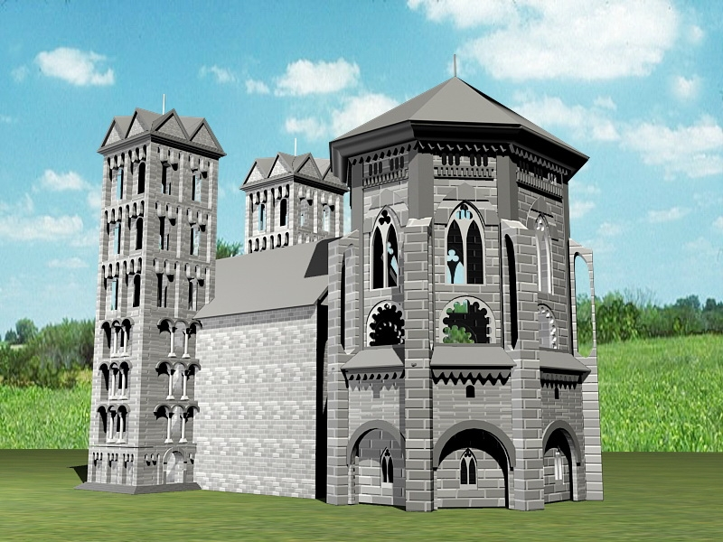 Old Castle 3d rendering