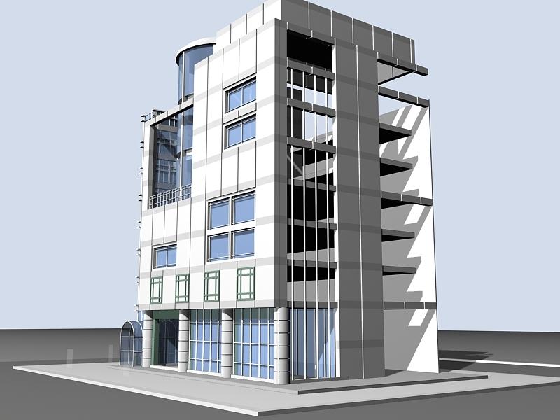 Office Building Exterior 3d rendering