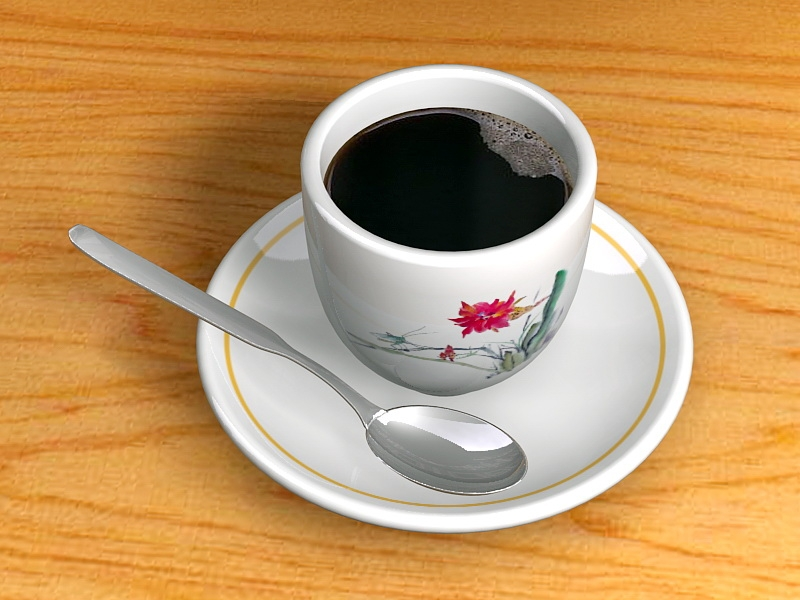 A Cup Of Coffee 3d rendering