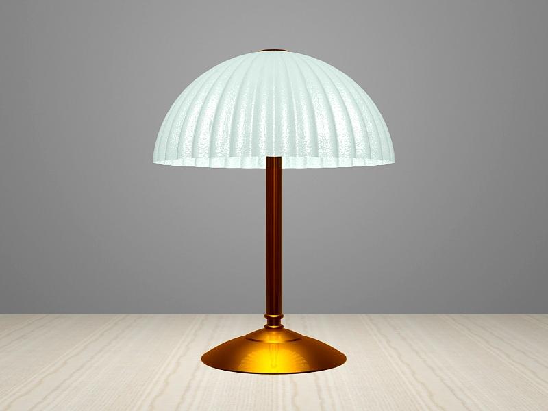Retro Brass Table Lamp 3d rendering