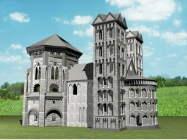 Old Castle 3d model preview