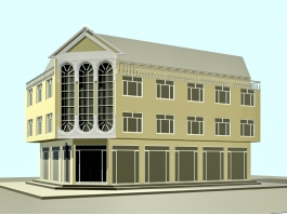 Small Office Building Design 3d model preview