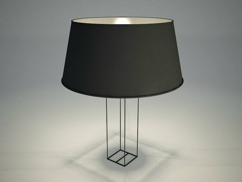 Contemporary Minimalist Table Lamp 3d rendering