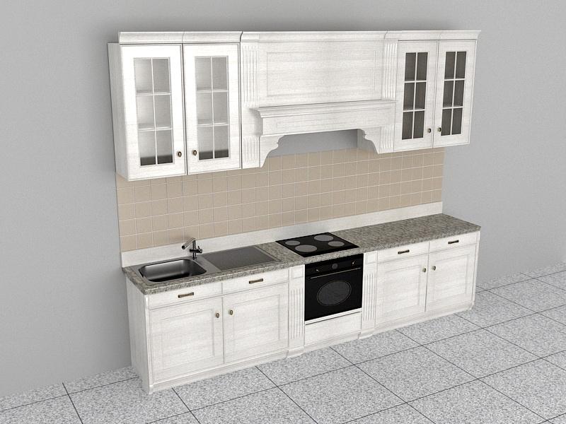 Contemporary Kitchen Design 3d rendering