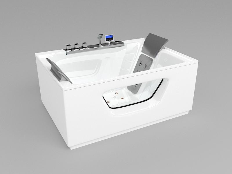 Luxury Whirlpool Tub 3d rendering