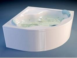 Small Corner Acrylic Bathtub 3d preview