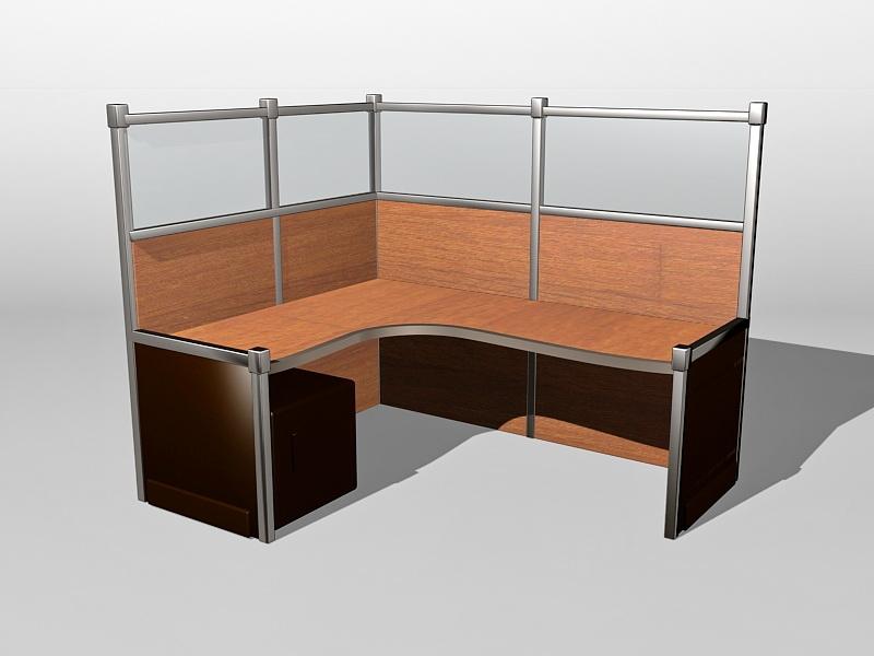 Office Cubicle Design Ideas 3d rendering