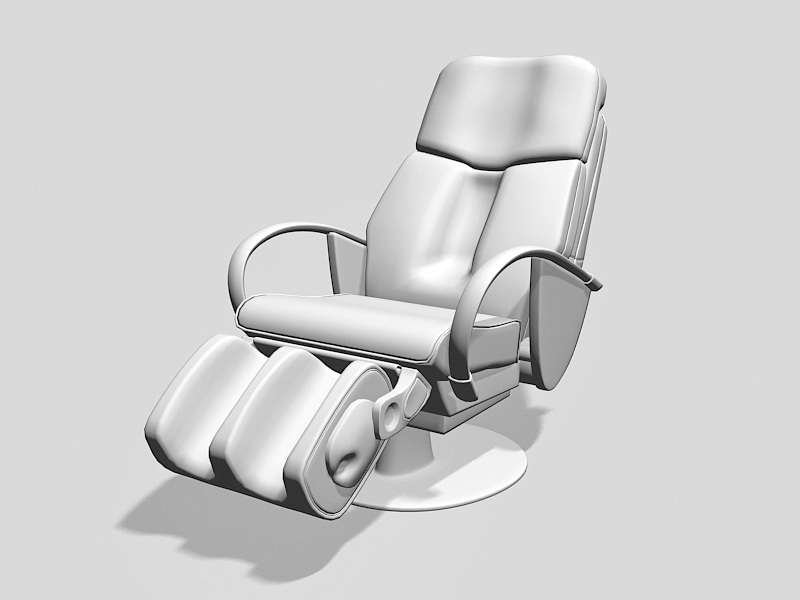 Executive Recliner Office Chair 3d rendering