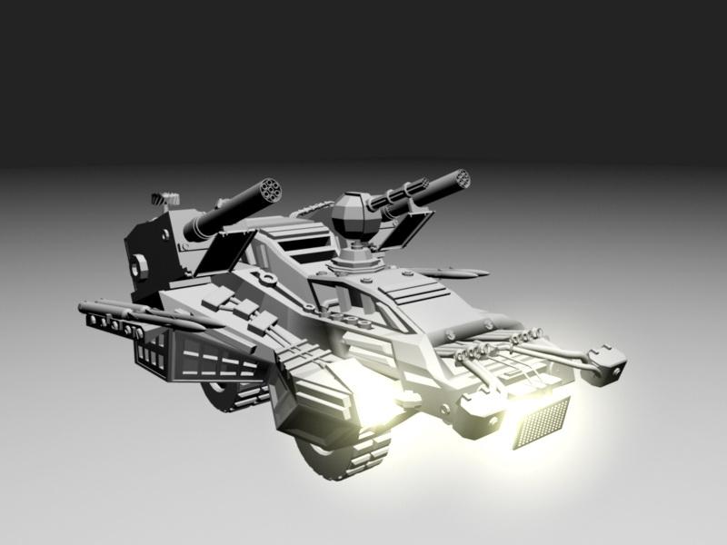 Sci Fi Combat Vehicle 3d rendering