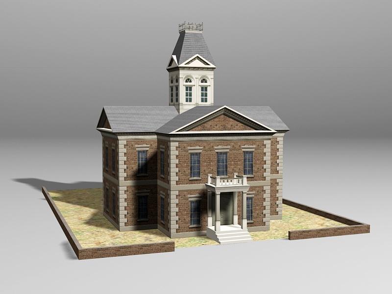 Vintage Style House 3d rendering