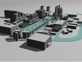 Industrial Chemical Plant 3d preview