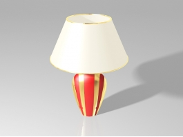 Red Ceramic Table Lamp 3d preview