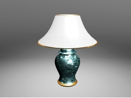 Emerald Green Table Lamp 3d preview