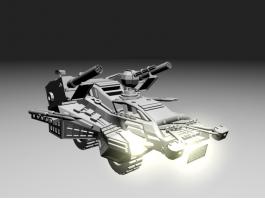 Sci Fi Combat Vehicle 3d preview