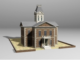 Vintage Style House 3d preview