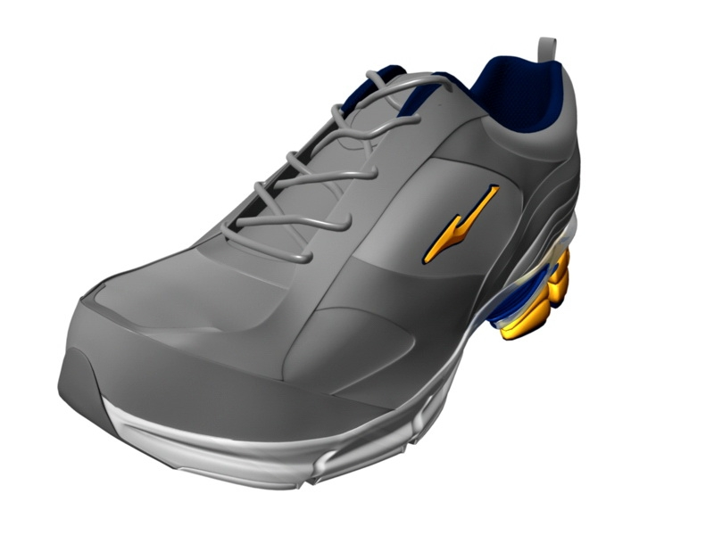 Fashion Sneakers 3d rendering