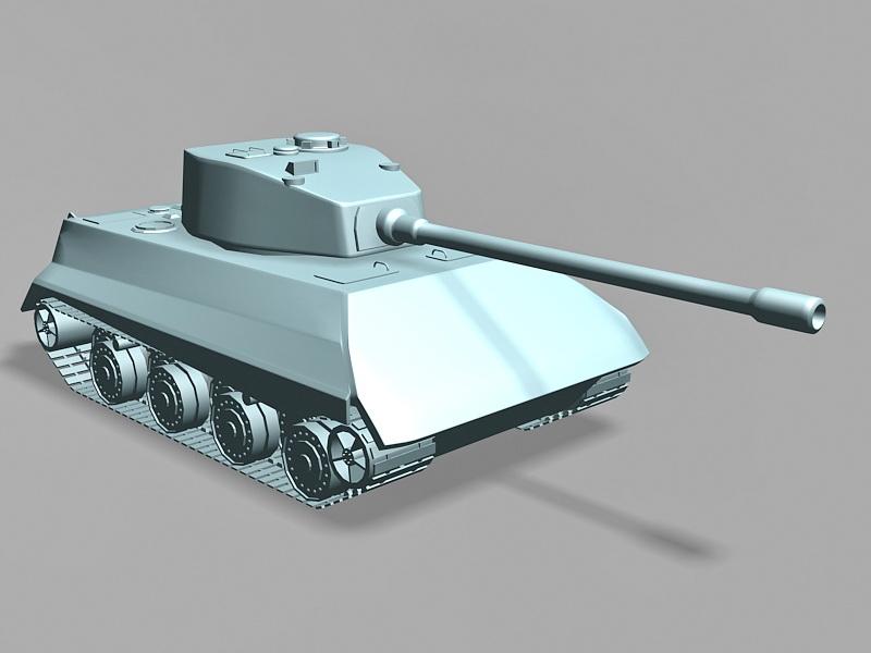Tiger II Tank 3d rendering