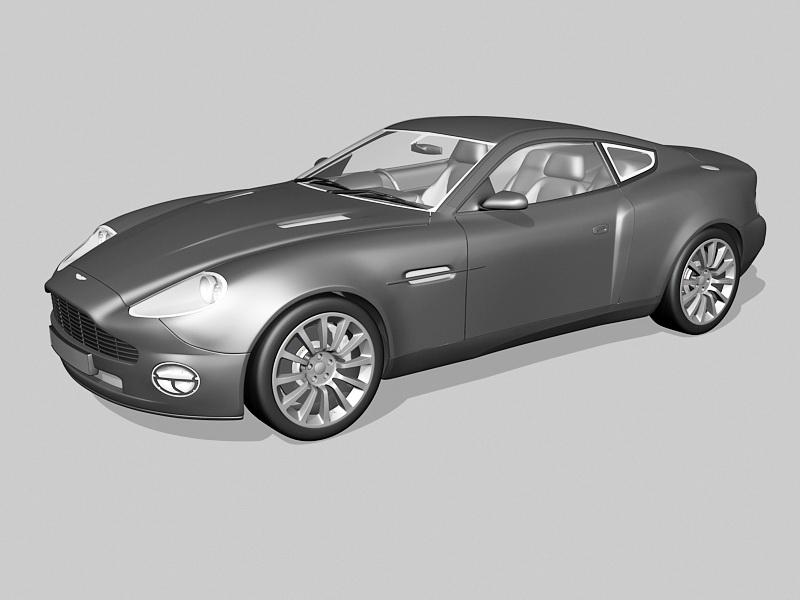 Aston Martin V12 Vanquish 3d rendering