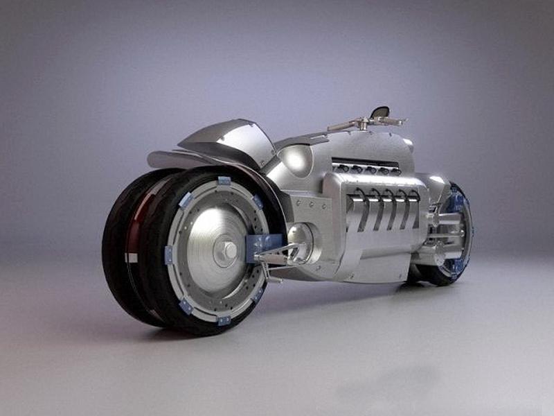 Dodge Tomahawk Concept 2003 Motorcycle 3d rendering