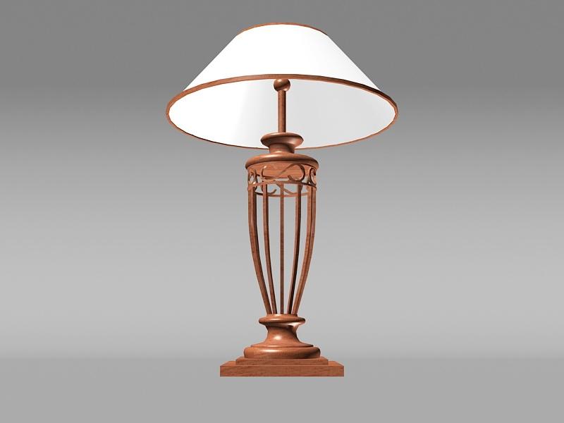 Vintage Bedside Table Lamp 3d rendering