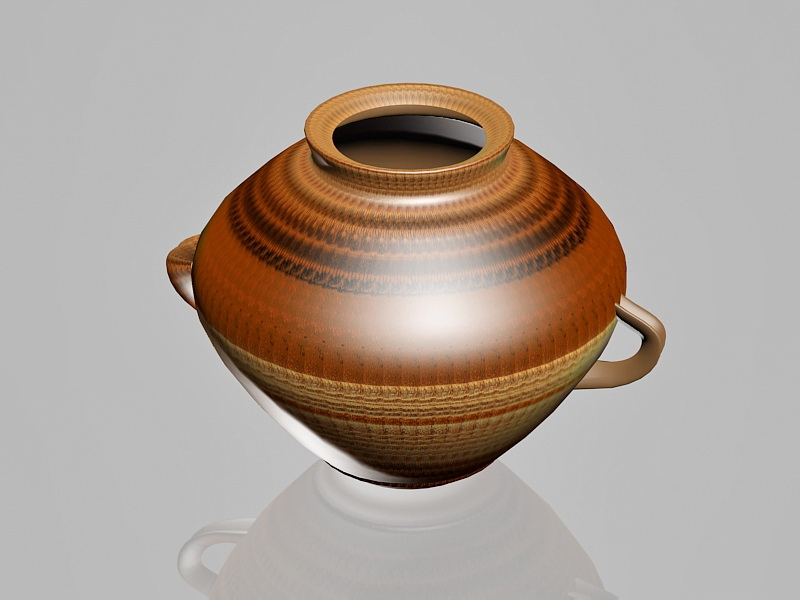 Clay Pottery Vase 3d rendering