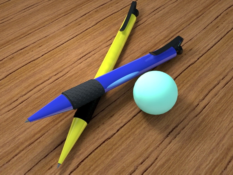 Plastic Ballpoint Pen 3d rendering