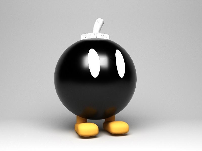 Cartoon Bomb Man 3d rendering