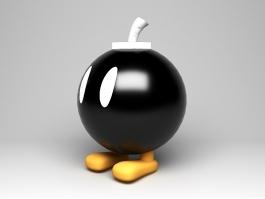 Cartoon Bomb Man 3d preview