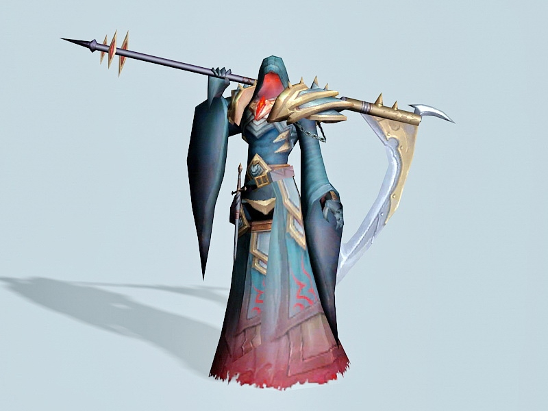 Anime Death Scythe 3d rendering