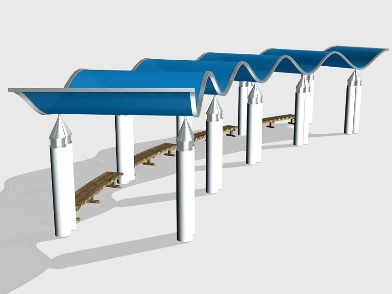 Modern Pergola Design Ideas 3d rendering
