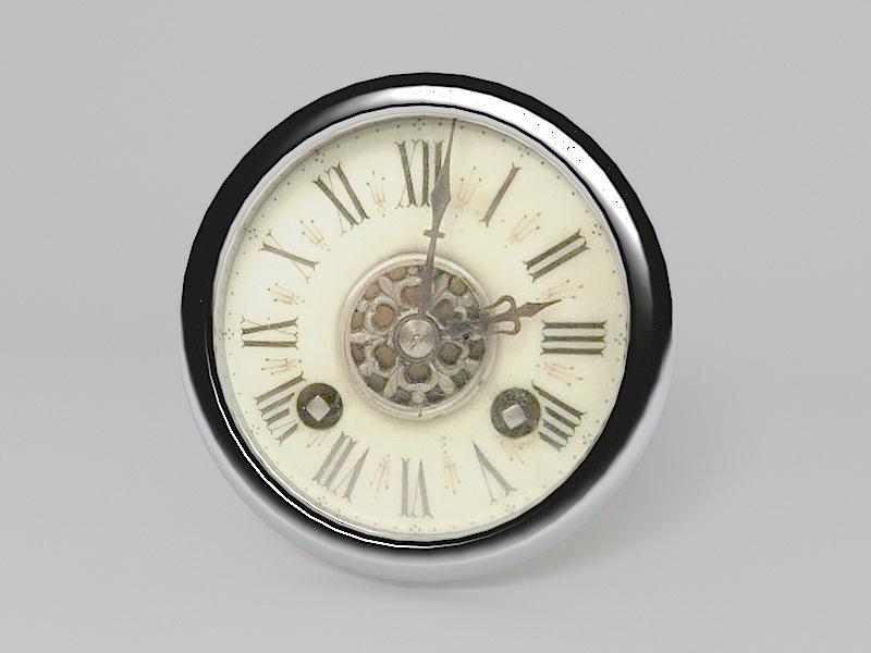 Vintage Style Wall Clock 3d rendering