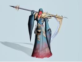 Anime Death Scythe 3d preview